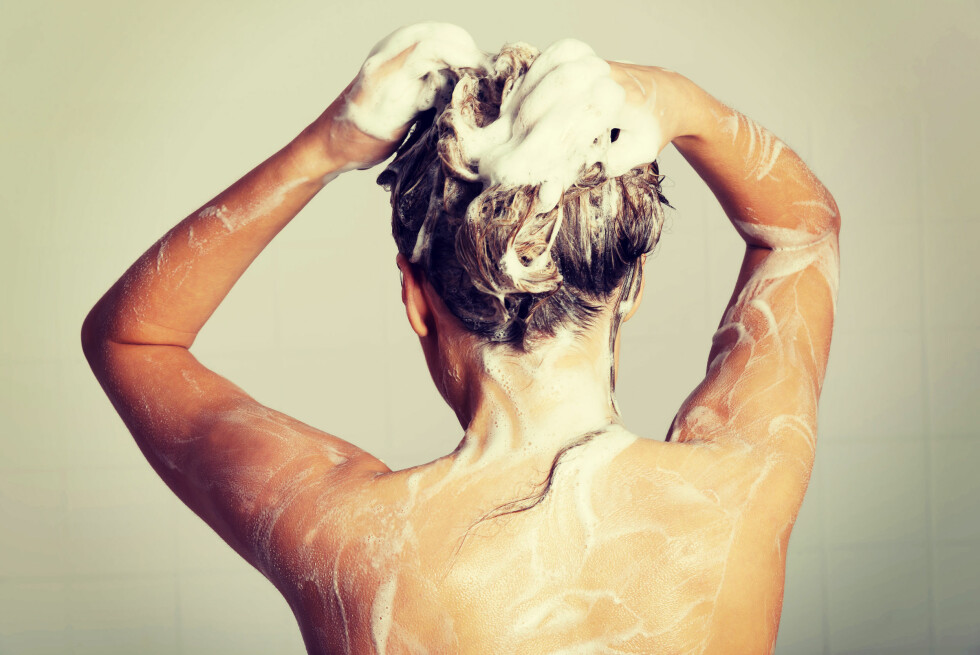 SJAMPO: Visste du at det ikke er noen vits i å bruke sjampo i hele håret?  Foto: Shutterstock / Piotr Marcinski