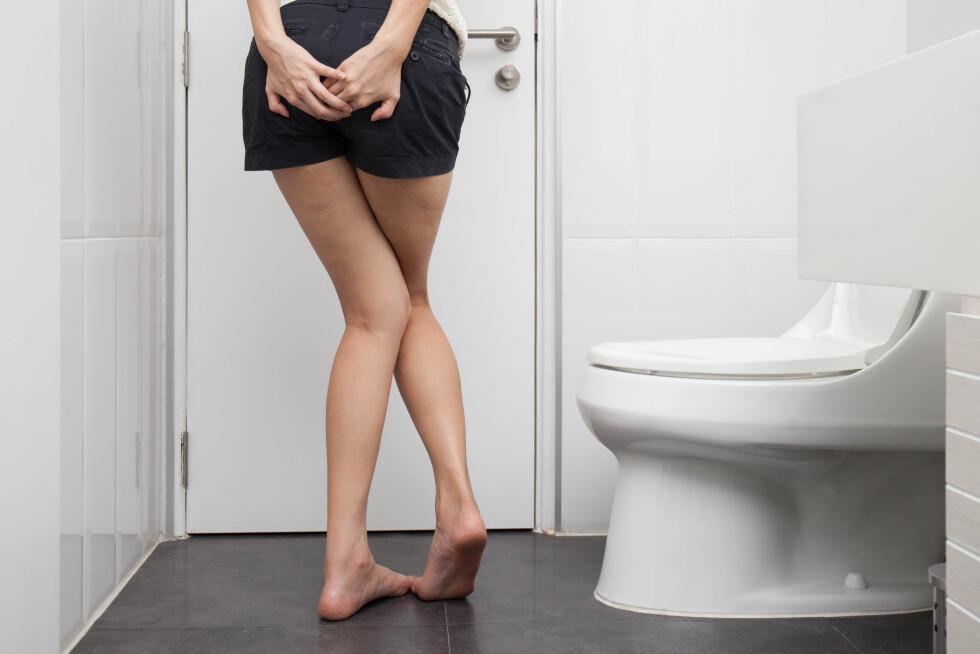 KJIPE DOSITUASJONER:  Når du må så på do at du holder på å gjøre på deg, selv om du er på vei inn toalettdøra...ikke en ok følelse. Foto: Shutterstock / GongTo