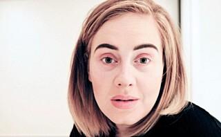 Popikonet Adele (28) viser seg uten sminke