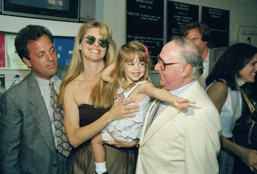 Christie Brinkley med datteren Alexa Ray, 1988. Foto: Ap