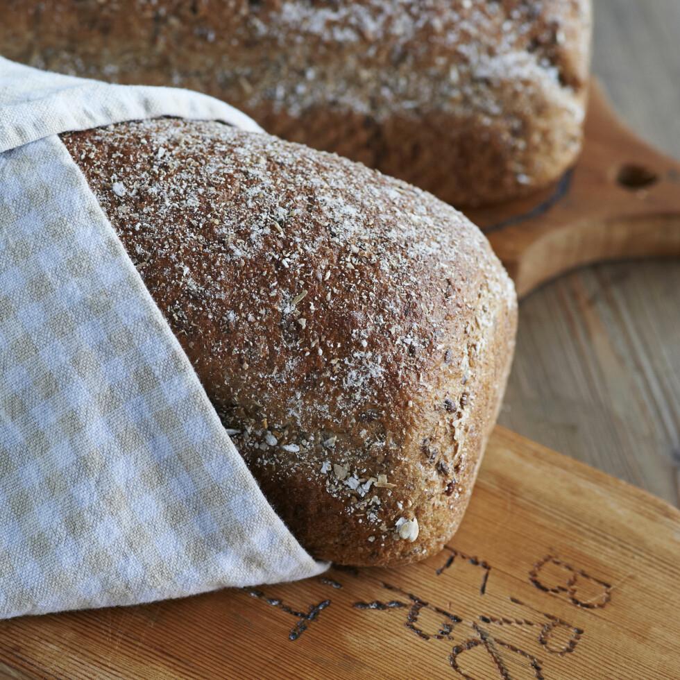 «Ingers sunne lavkarbo-brød» Foto: fra boka «Sunt, raskt og rimelig med Inger», Kagge forlag