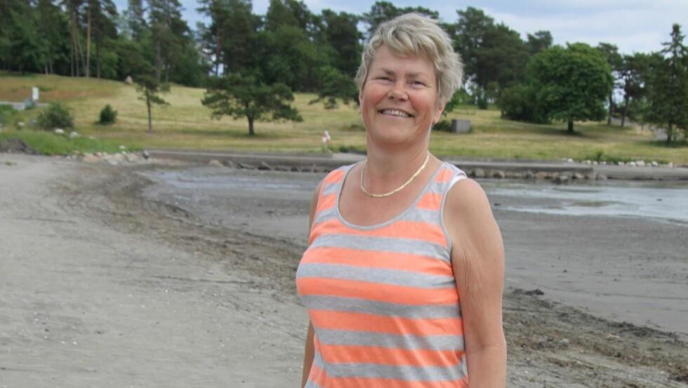 NÅ: Inger Rensvold har funnet sin personlige, effektive måte  å kombinere kostholdsomlegging og trim på. – Det gir energi å legge inn et par gode gåturer hver dag, konstaterer hun. Foto: Lars O. Gulbrandsen