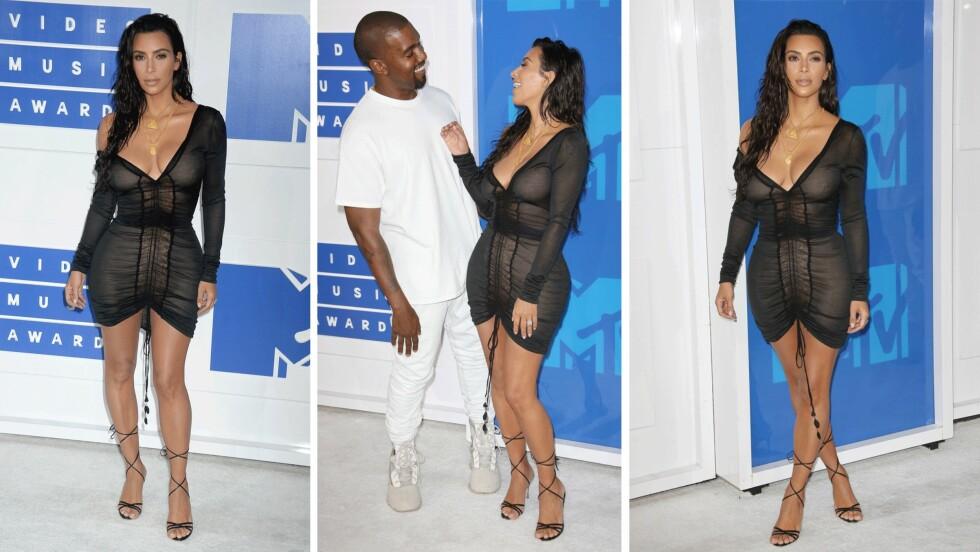 MTV VMA 2016: Kim Kardashian ser superhot ut på den røde løperen! Foto: Scanpix