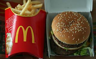 McDonalds og andre hurtigmatkjeder opplever økt salg i Norge