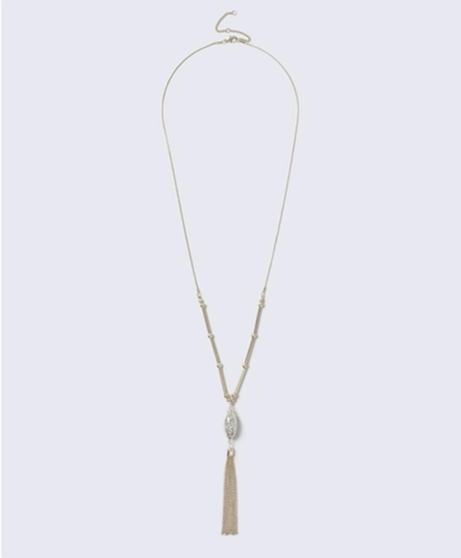 Kjede fra Gina Tricot | kr 119 | http://www.ginatricot.com/cno/no/kolleksjon/tilbehor/smykker/halsband/shaker-tassel-necklace/prod503182723690.html