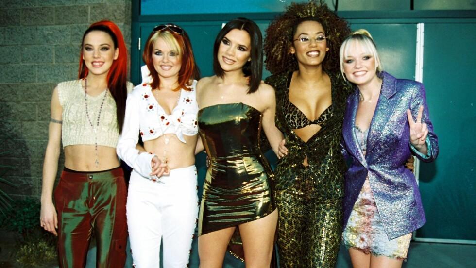 DE STORE PÅ 90-TALLET: Det er ingen tvil om at jentene i Spice Girls var noen av verdens største idoler på 90-tallet. Geri Horner (44), også kjent som «Ginger Spice», forteller i et nytt intervju om hvordan hun slet med bulimi.  Foto: wenn.com