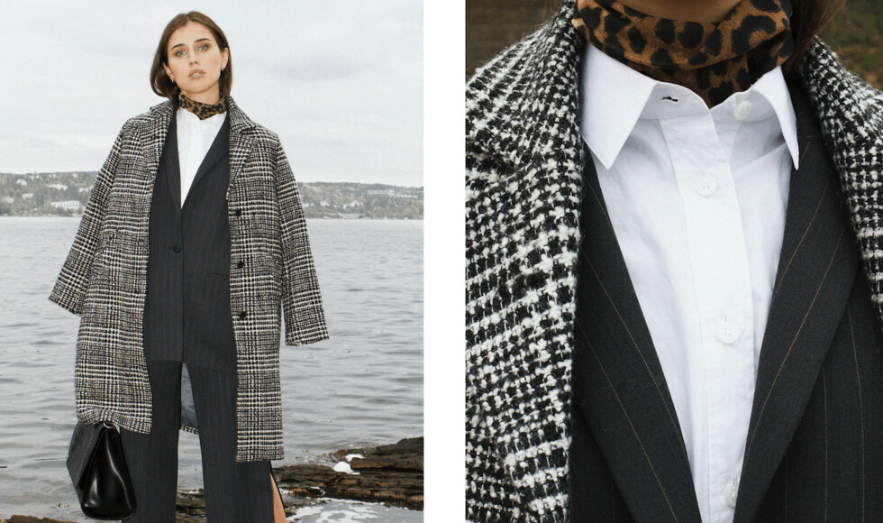 STYLING AV SKJORTEN: Den klassiske skjorten oppgrader du enkelt med en høyhalser under, gjerne i leopardmønster, dersom du er ekstra vågal.  Foto: Jakob Landvik