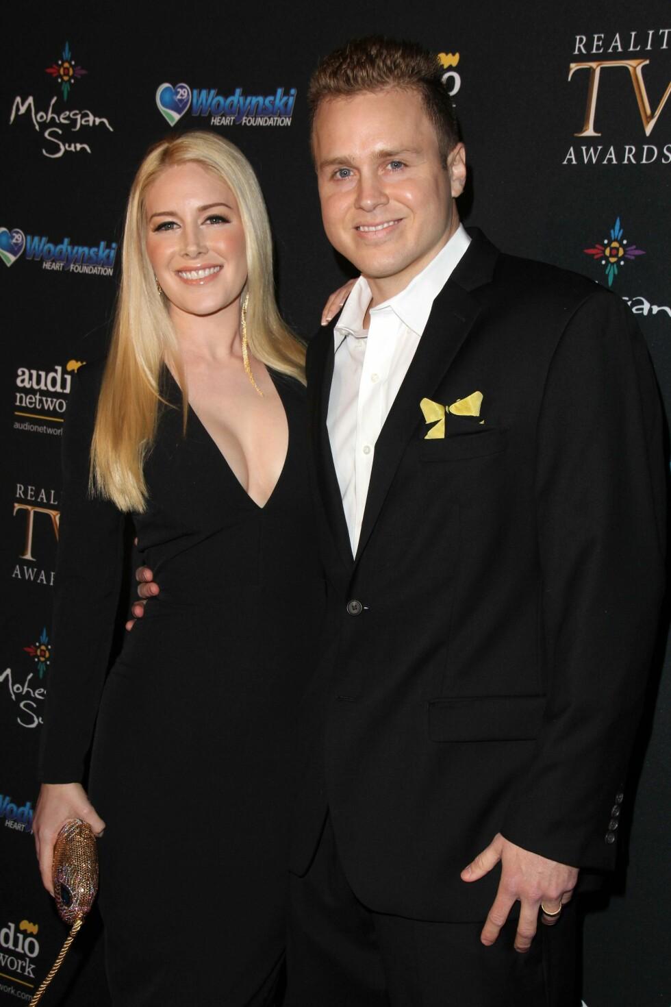 FORTSATT ET PAR: Spencer Pratt og Heidi Montag har holdt sammen i tykt og tynt. Her i 2015. Foto: Buzzfoto.com