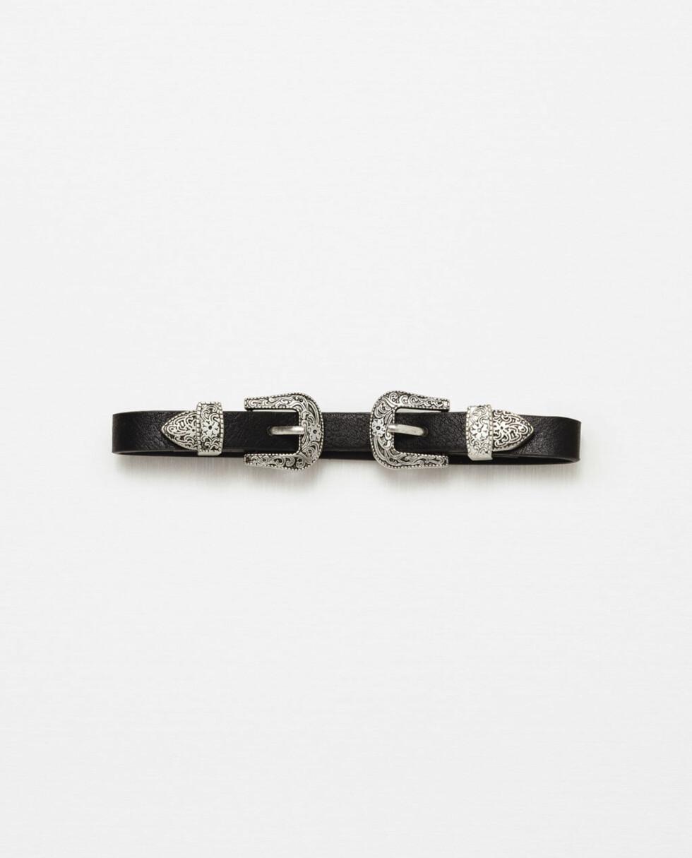 Choker fra Zara | kr 99 | http://www.zara.com/no/no/dame/accessories/choker-halsb%C3%A5nd-lite-belte-c269207p3647911.html