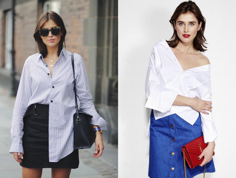 Basisgarderoben: Alle kvinner bør ha en klassisk skjorte i skapet. Enten den er stripete eller ensfarget, kommer disse plaggene godt med i alle anledninger. Foto: Marianne Theodorsen og Truls Qvale
