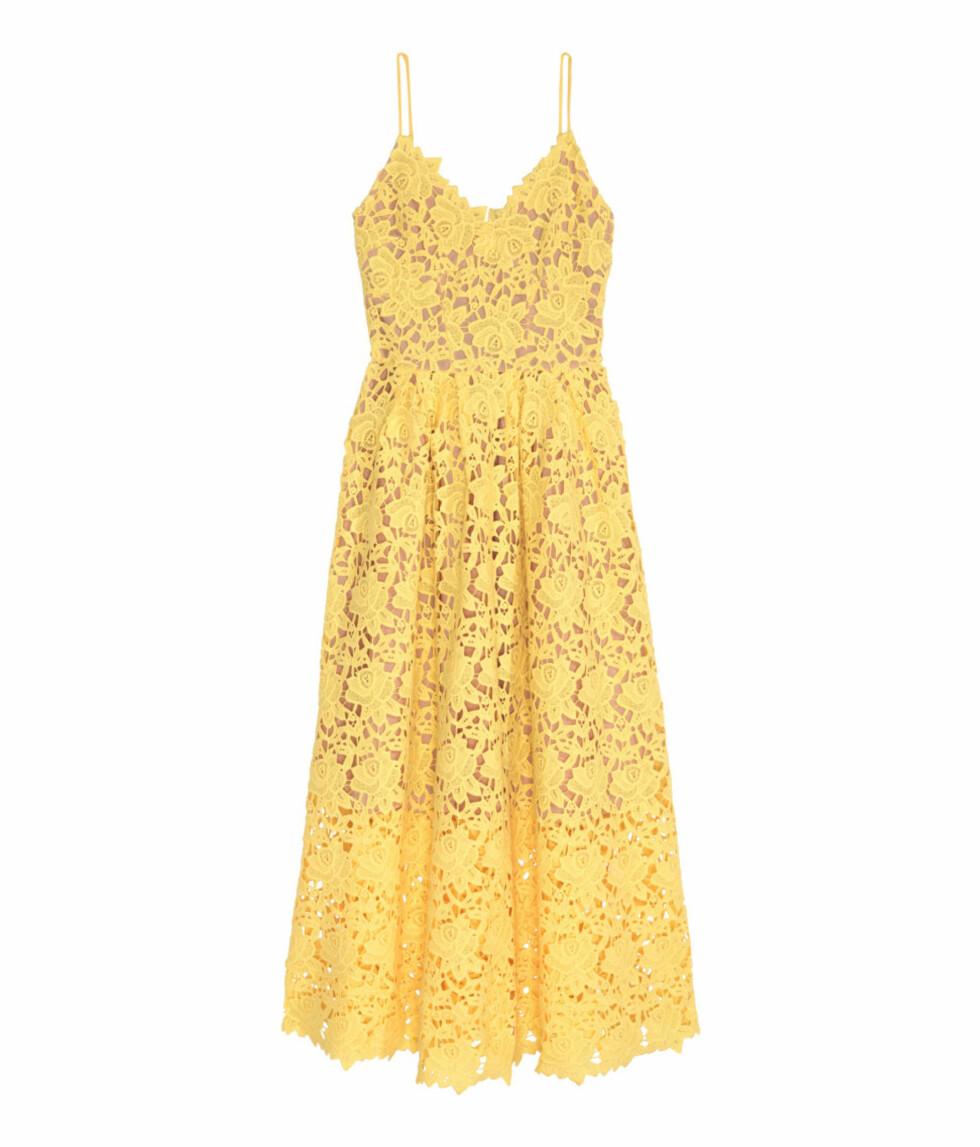 Gul blondekjole fra H&M | kr 999 | http://www.hm.com/no/product/46304?article=46304-B
