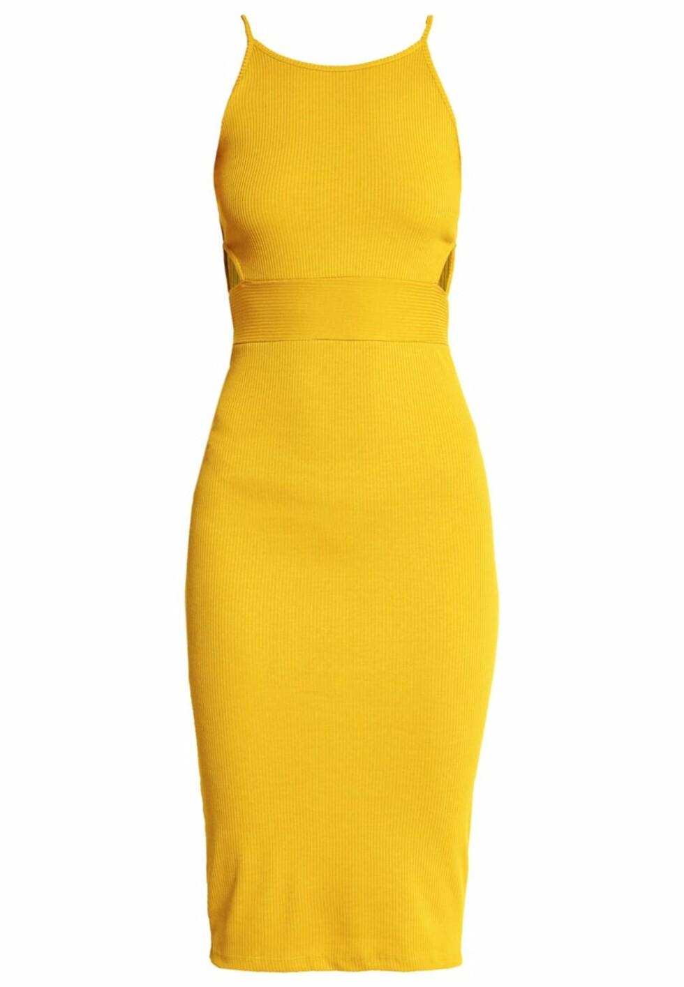 Kjole fra Even&Odd via Zalando.no | kr 249 | pn.zalando.net/go.cgi?pid=1173&wmid=cc&cpid=12&target=http://www.zalando.no/even-odd-jerseykjole-yellow-ev421ca4p-e11.html