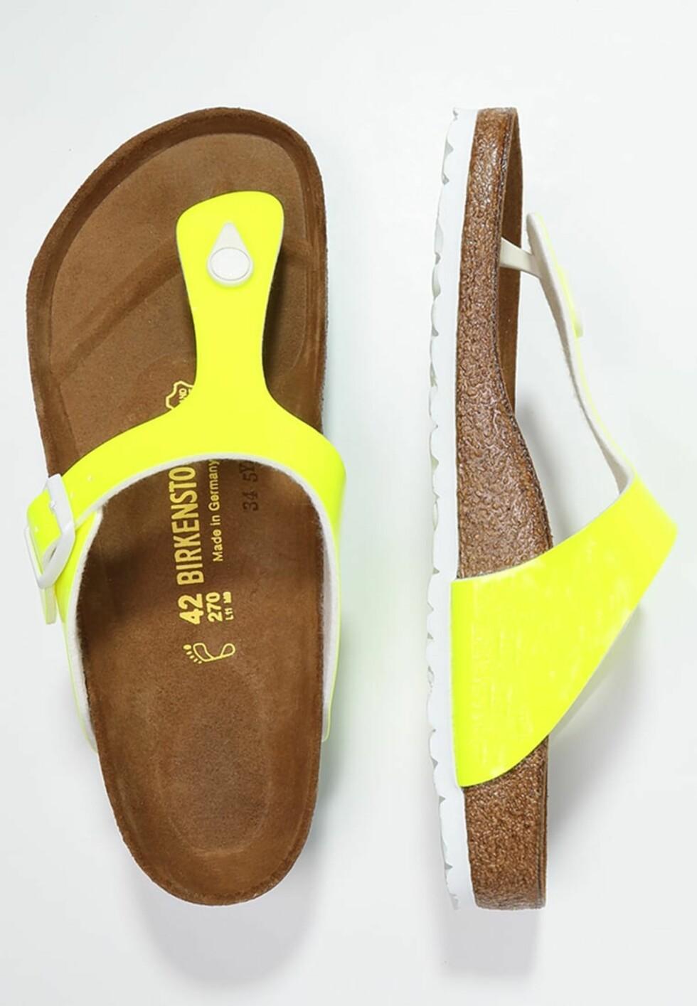 Sandaler fra Birkenstock via Zalando.no | kr 799 | pn.zalando.net/go.cgi?pid=1173&wmid=cc&cpid=12&target=http://www.zalando.no/birkenstock-gizeh-flip-flops-neon-yellow-bi111z01h-e11.html