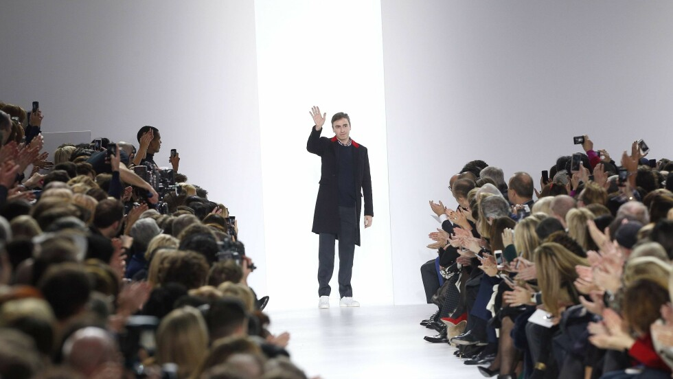 FORLATER DIOR: Raf Simons er blant de designerne som har forlatt noen av verdens største motehus i løpet av årets som har gått. Foto: Afp
