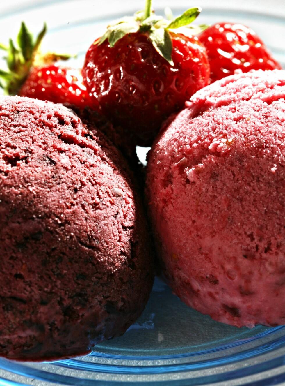 DEILIG: Kesamis med jordbær.  Foto: Aftenposten