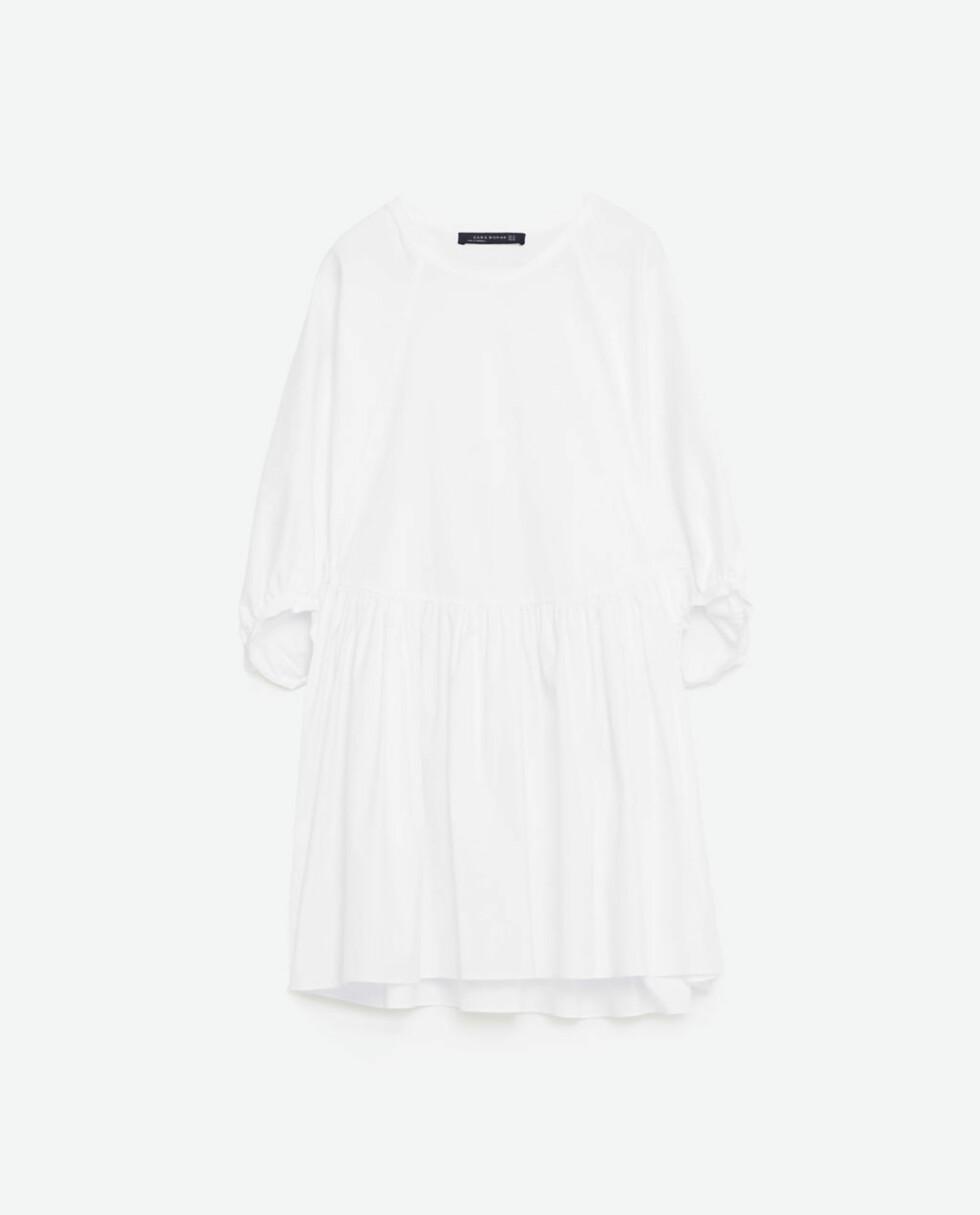 Hvit kjole fra Zara   kr 559   http://www.zara.com/no/no/kolleksjon-aw16/dame/kjoler/kort-kjole-i-poplin-c269185p3702137.html