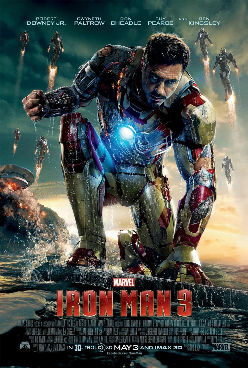 <strong>Iron man 3 (2013):</strong> tjente 1,21 milliarder dollar.  Foto: MARVEL STUDIOS / Album