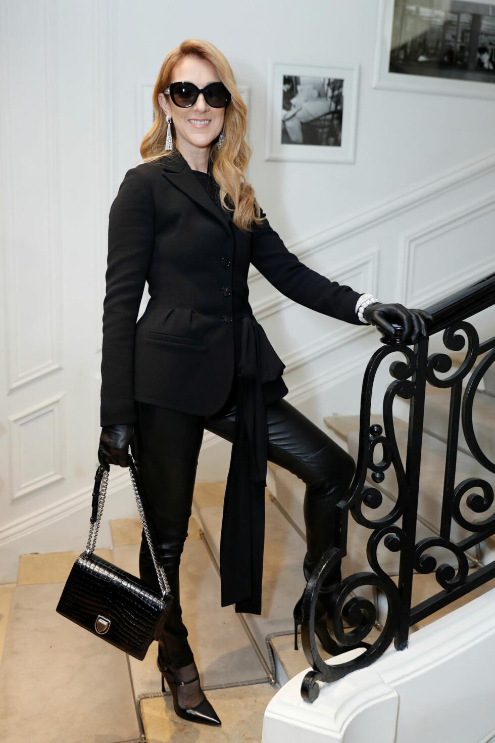 <strong>DION PÅ DIOR:</strong> Sangstjernen deltok på haute couture-visningen til selveste Dior. Foto: Reuters