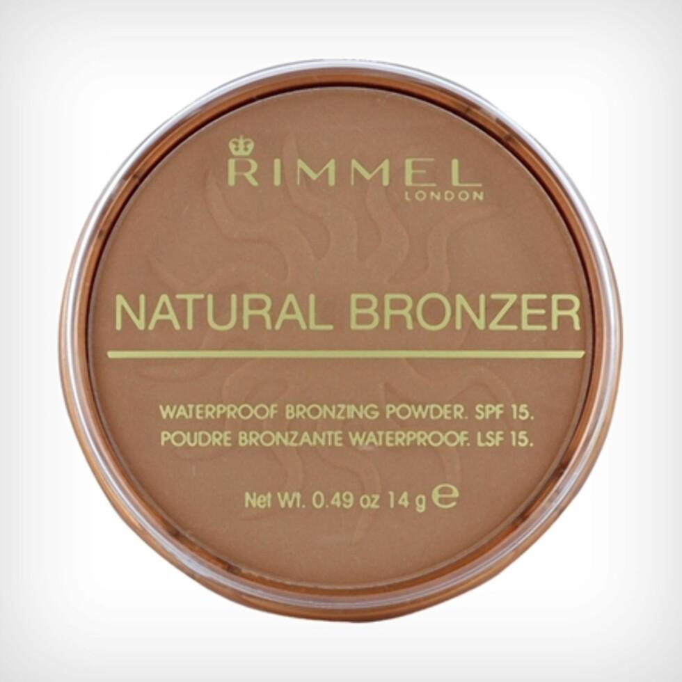 Vannfast bronzer fra Rimmel via Nordicfeel.no | kr 75 | https://track.adtraction.com/t/t?a=997224614&as=1115634940&t=2&tk=1&url=https://www.nordicfeel.no/make-up/ansikt/bronzer-highlighter/rimmel-natural-bronzer-waterproof-spf15-18265