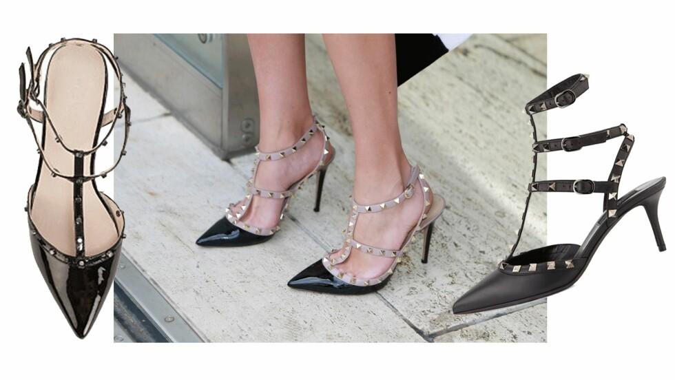 <strong>BILLIG VS DYR:</strong> En av disse skoene koster kroner 9827. Ser du hvilke? Foto: Scanpix, Nelly.com, NeimanMarcus.com