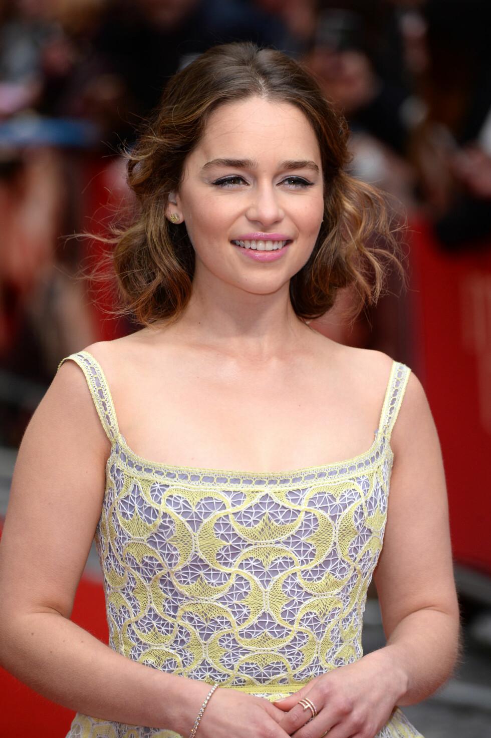Emily Clarke, som spiller Khaleesi, er egentlig en brunette. Visste du det? Foto: Pa Photos
