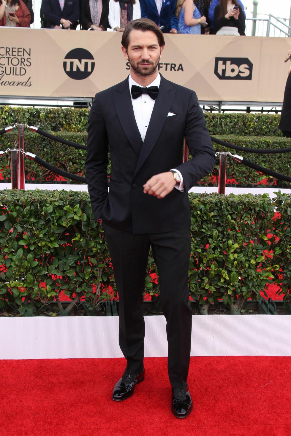 Den tyske skuespilleren, Michael Huisman, ser like godt ut som Daario - til tross for at det lange håret (som vi elsker ja) er borte. Foto: Splash News