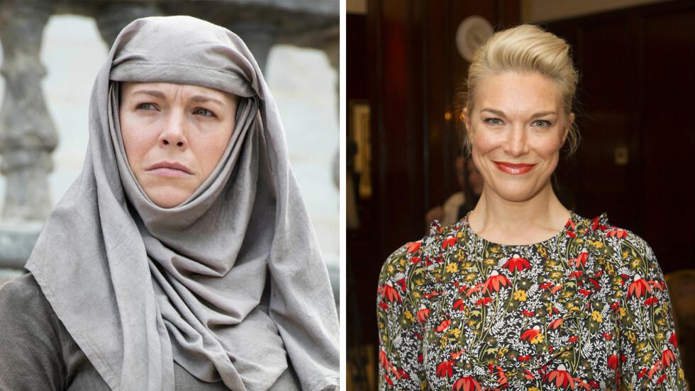 GAME OF THRONES-SKUESPILLERNE: Den britiske skuespilleren Hannah Weddingham spiller Septa Unella i Game of Thrones.    Foto: NTB Scanpix/ HBO