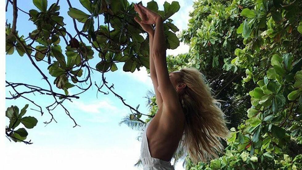 CANDICE SWANEPOELS FAVORITT: Supermodell Candice Swanepoel er en av mange kjendiser som reiser til Costa Rica for å koble av, og sjansen for å møte en av dem på strendene er stor! Foto: SipaUSA