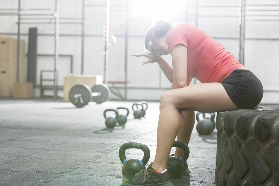 UTMATTET: Rabdomyolyse ser ut til å være et økende problem, og oppstår for det meste gjennom overdreven styrketrening der man har presset kroppen for hardt.  Foto: Shutterstock / bikeriderlondon