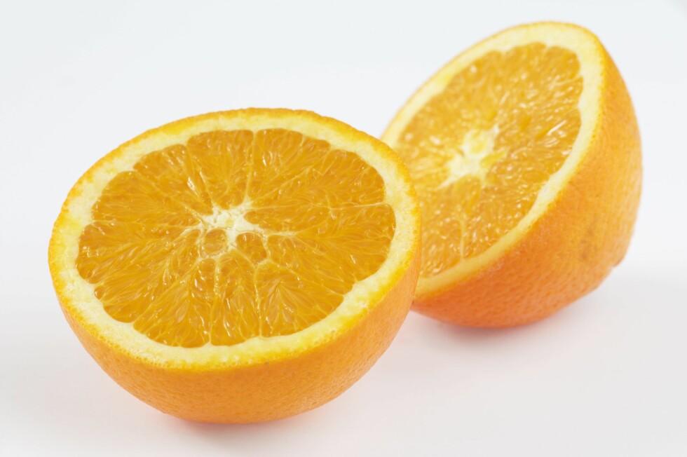 DEILIG VITAMINBOMBE: Appelsin er en veldig god kilde til vitamin C.  Foto: Samfoto