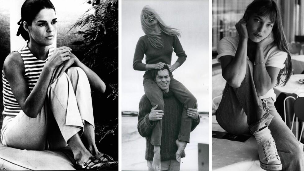 <strong>LEGENDARISKE MOTEIKONER:</strong> (f.v.) Ali McGraw, Brigitte Bardot og Jane Birkin er bare noen av damene vi fremdeles lar oss inspirere av. Foto: Scanpix