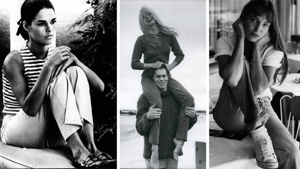 LEGENDARISKE MOTEIKONER: (f.v.) Ali McGraw, Brigitte Bardot og Jane Birkin er bare noen av damene vi fremdeles lar oss inspirere av. Foto: Scanpix