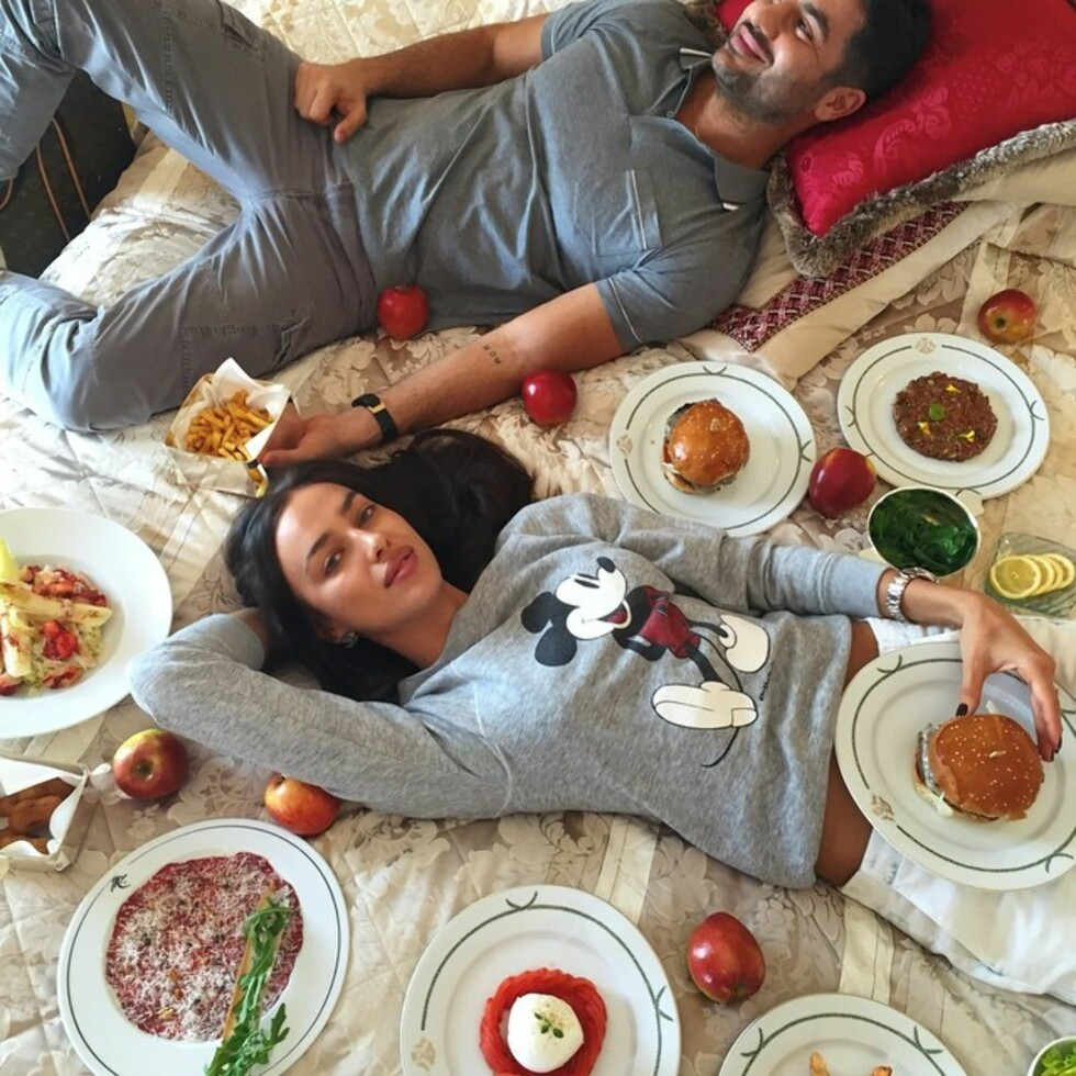 """Irina Shayk: """"Only one thing I love more than food.. @alikavoussi  Foto: SipaUSA"""