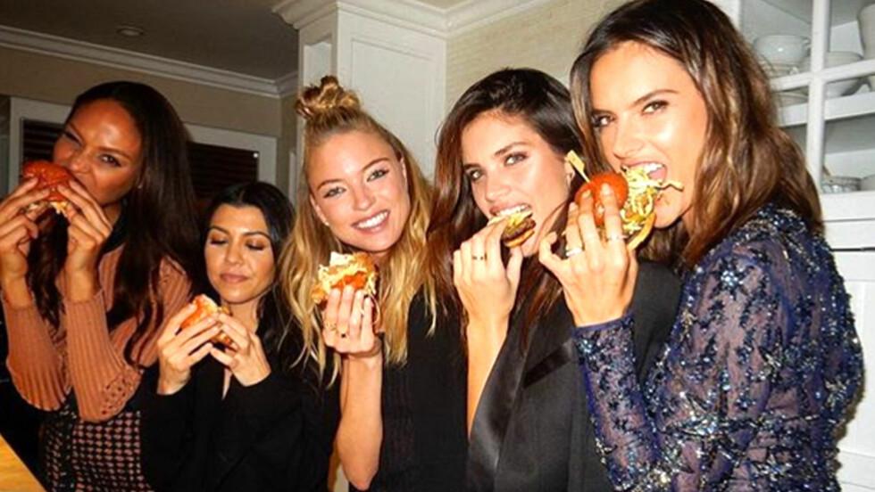 GLEM SALATEN: Nå er det hamburgere som gleder på sosiale medier! Foto: Xposure