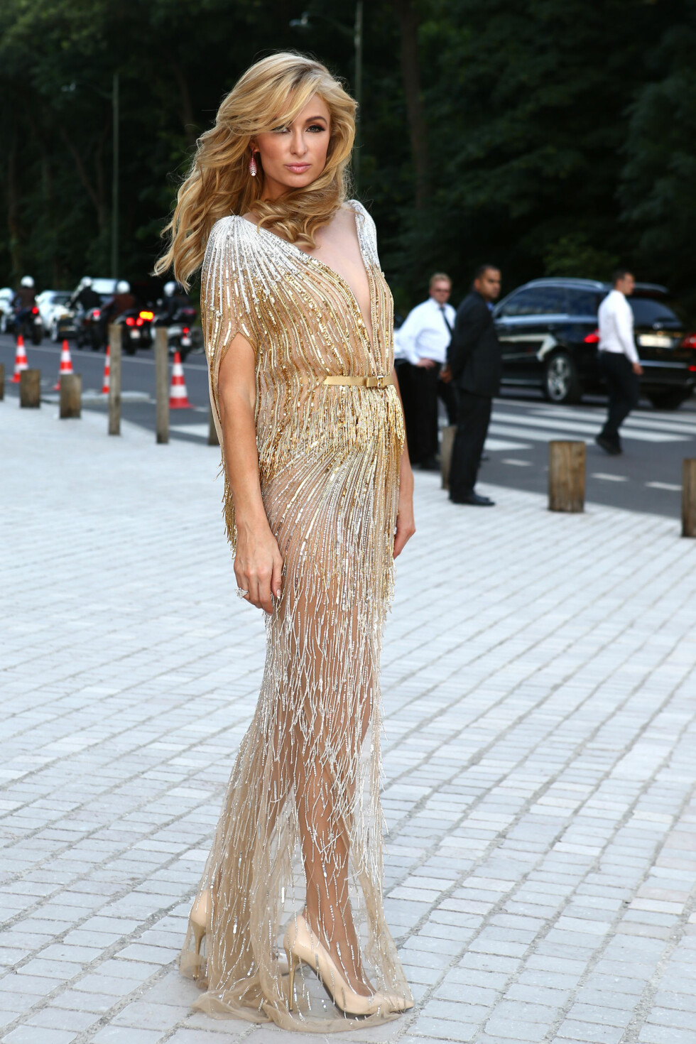 Paris Hilton arriving at the The Art of Giving Love Ball Naked Heart Foundation held at Louis Vuitton Foundation as part of Paris Fashion Week Haute Couture Fall/Winter 2016/17 on July 6, 2016 in Paris, France. Photo by ABACAPRESS.COM Foto: Abaca
