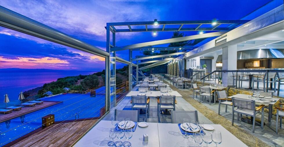 <strong>ADRINA RESORT:</strong> Ligger på  Skopelos, der Mamma Mia! ble spilt inn.  Foto: Adrina resort