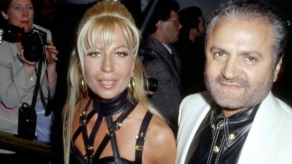 BROR OG SØSTER: Gianni og søsteren Donatella var nære, hun og broren Santo styrer nå det enorme Versace-imperiet.  Foto: NTB-Scanpix