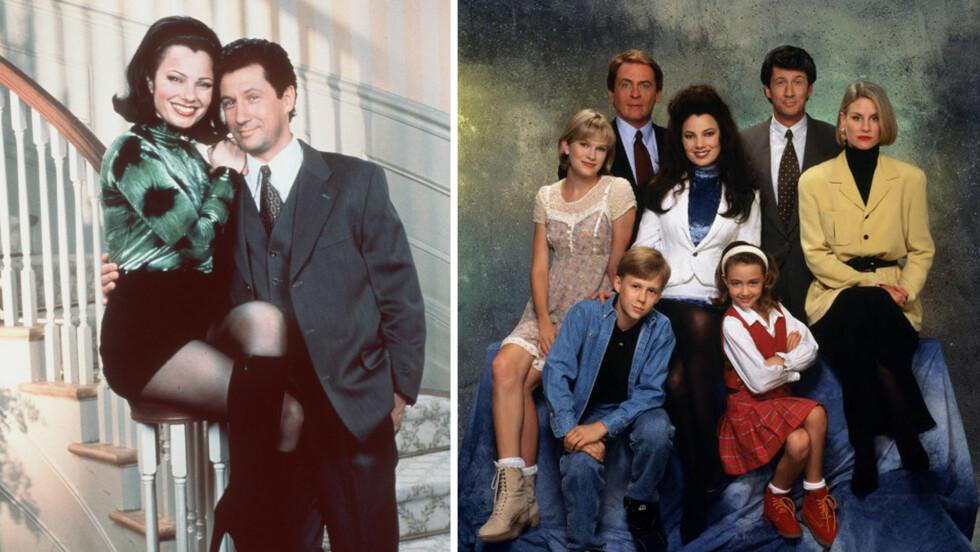 THE NANNY: Den populære serien gikk på TV i perioden 1993 til 1999, og i Norge ble den sendt på TV3. Scroll deg ned i saken og les mer om skuespillerne og hva de har gjort siden TV-suksessen! Foto: NTB Scanpix // Columbia Broadcasting System (CBS)