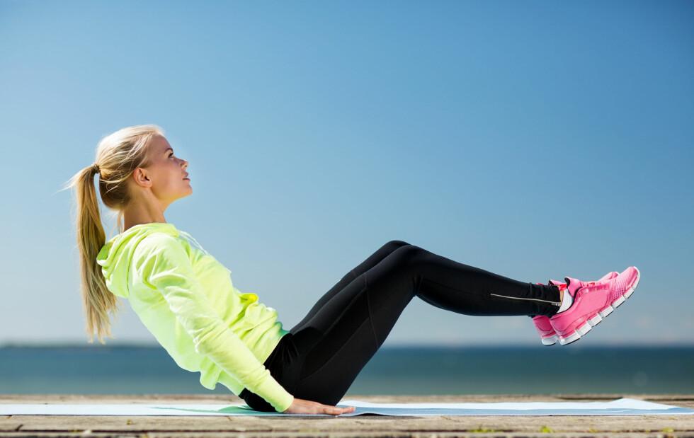 TREN UTE: Det er deilig å trene ute i sommervarmen.  Foto: Shutterstock / Syda Productions