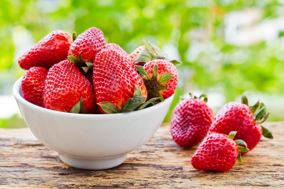 BRA FOR KROPPEN: Jordbær styrker kroppens immunforsvar. Foto: Shutterstock / minicase