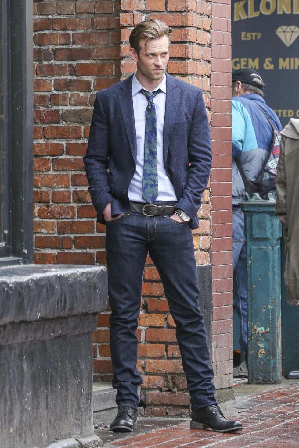 EN SKIKKELIG FLØRT: Eric Johnson, har fått rollen som Jack Hyde - den sleske sjefen til Anastasia.  Foto: Splash News