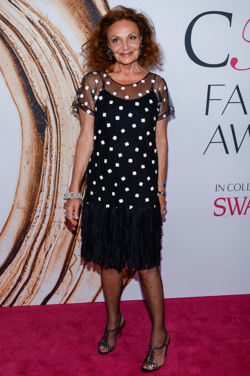 CFDA FASHION AWARDS: Diane Von Furstenberg. Foto: SipaUSA
