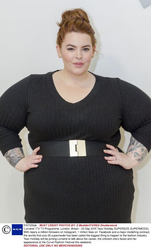 BANER VEI: Tess Holliday har virkelig fått gjennombrudd som ekte plus size-modell. Foto:  All Over Press Norway