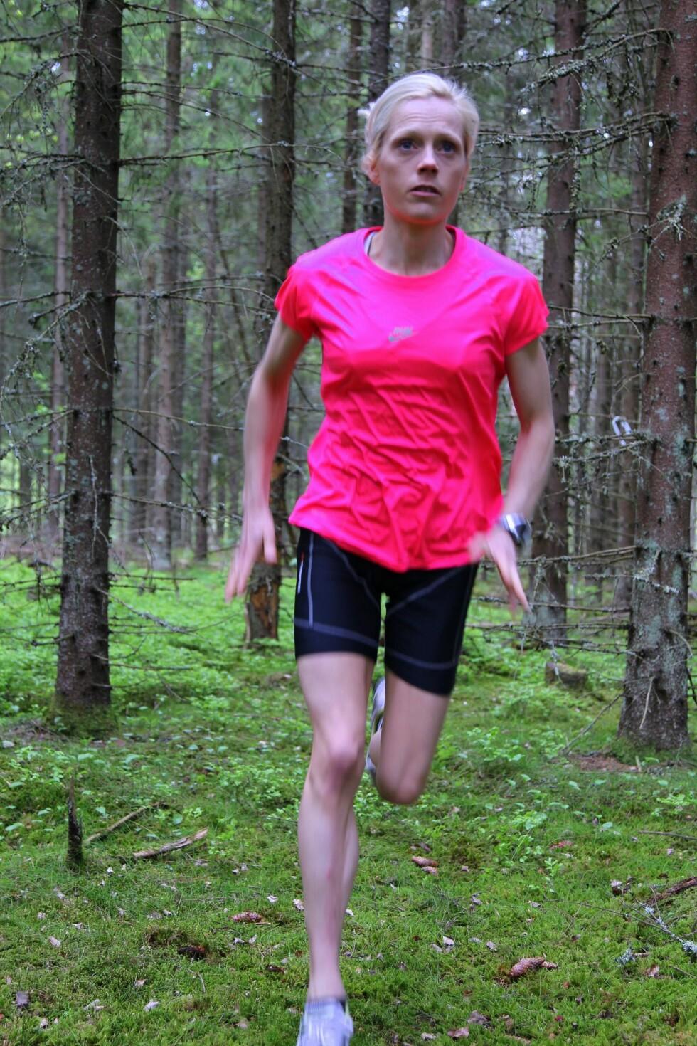 MISFORNØYD: – Jeg ble aldri fornøyd, uansett hvor tynn jeg ble, sier Kristin, som på det tynneste veide knappe 40 kilo.  Foto: Privat