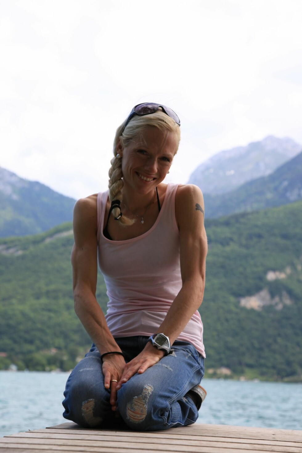 KROPPSFIKSERT: Her hadde ortoreksien tatt over livet til Kristin. – Det eneste jeg brydde meg om, var å se så trent ut som mulig.  Foto: Privat