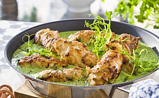 #Etniskfredag: Kyllingrullader i grønn saus