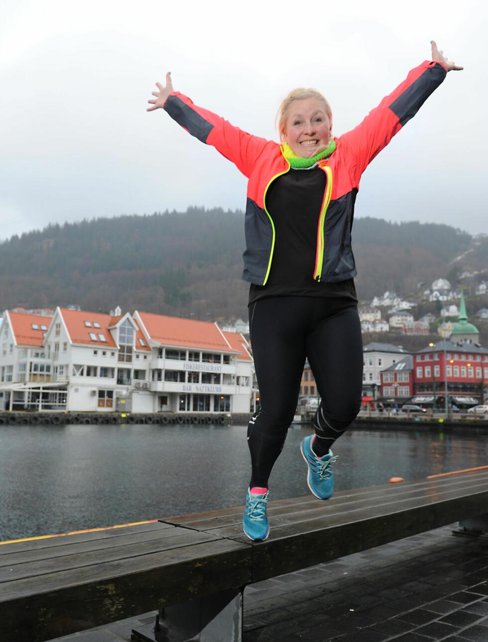 TRENING GIR MENING: Løping er mer enn bare trening for Pia-Camilla, det er terapi. – Det må gjerne være litt ekstremt. Da har jeg det best. For hvert løp, setter jeg meg nye mål, sier hun.  Foto: Marianne Otterdahl-Jensen