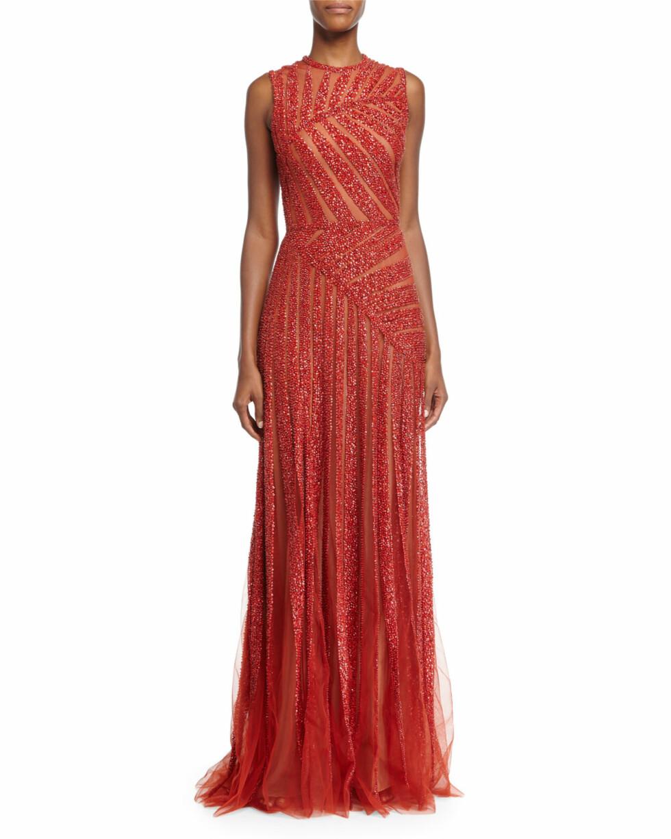 ELIE SAAB: Denne kjolen ligner på Solveig Kloppens, og har en prislapp på kroner 110.000. Begge er fra samme designer. Foto: NeimanMarcus.com