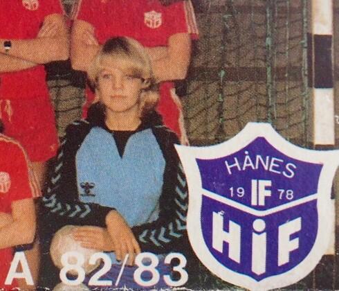 KEEPER: Hanne var en habil håndballkeeper for Hånes før hun ble syk. Foto:  Privat