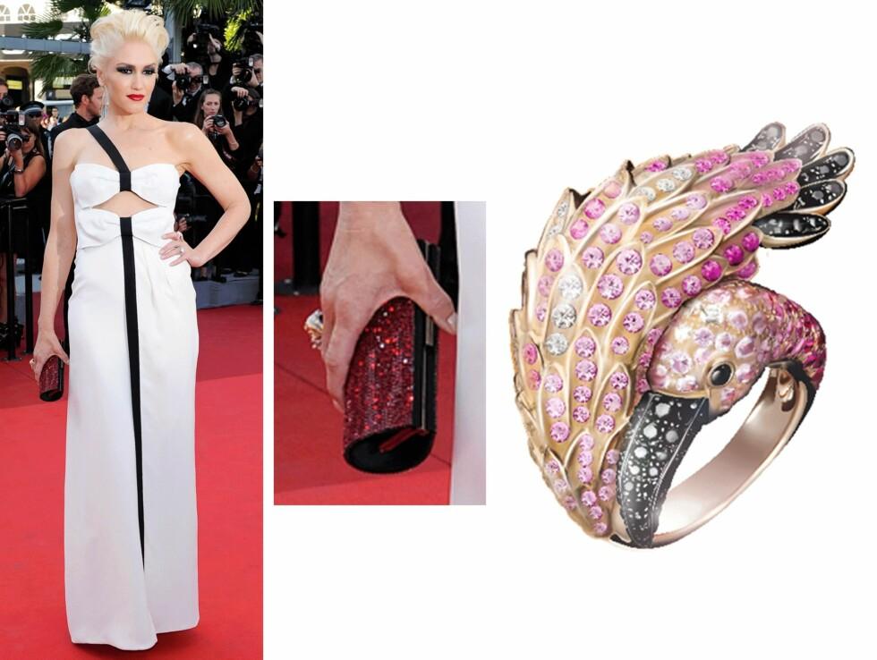 GWEN STEFANI: Ring fra Boucheron, kr 506.000. Foto: Scanpix, Stylight.no